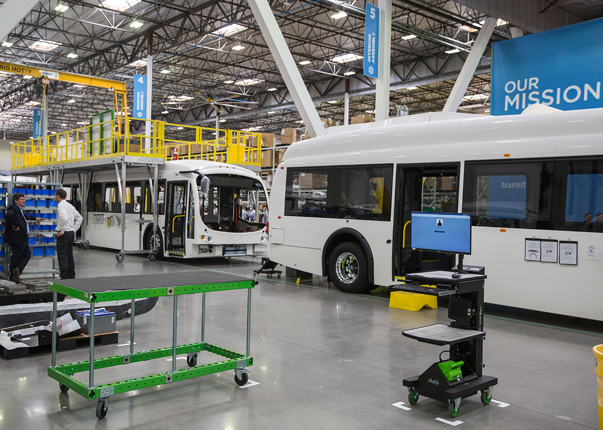All-electric bus manufacturing facility