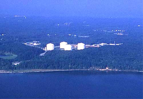 Aerial View of Cove Point Terminal, Maryland, Photo Courtesy of Cameron Davidson © 2002