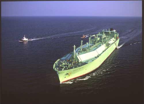 Cove Point LNG Vessel at sea