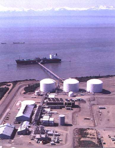 Aerial View of Kenai Export Terminal, Alaska