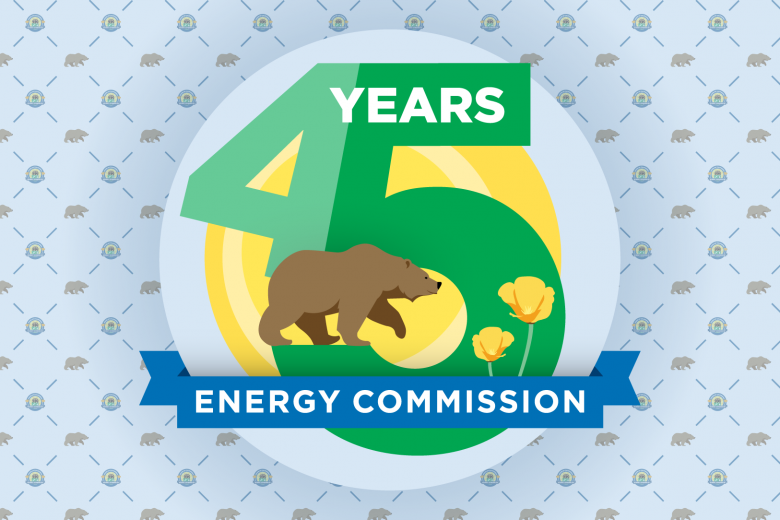 45th Anniversary Energy Commission Logo